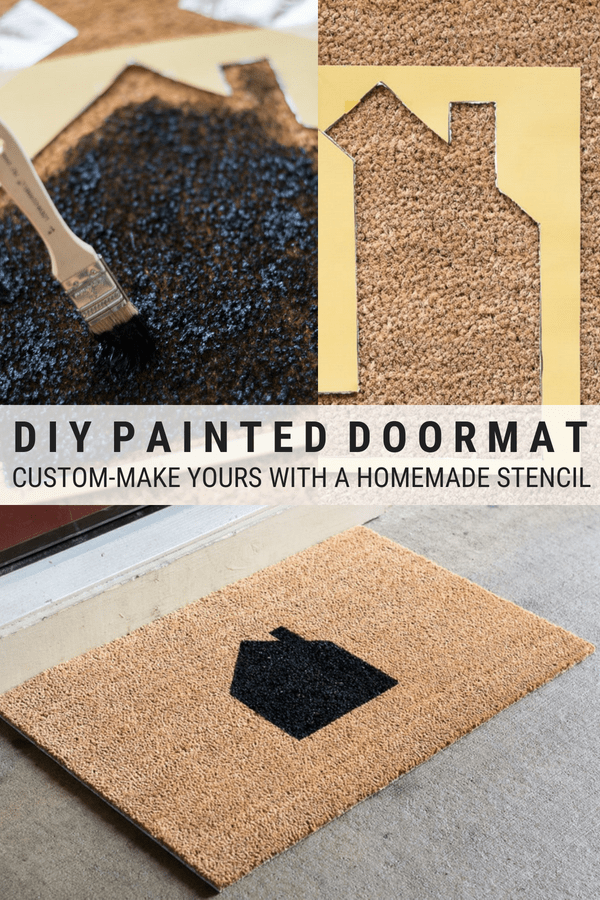 Diy Painted Doormat How To Paint A Coir Doormat Door Mat Diy Diy Painting Door Mat