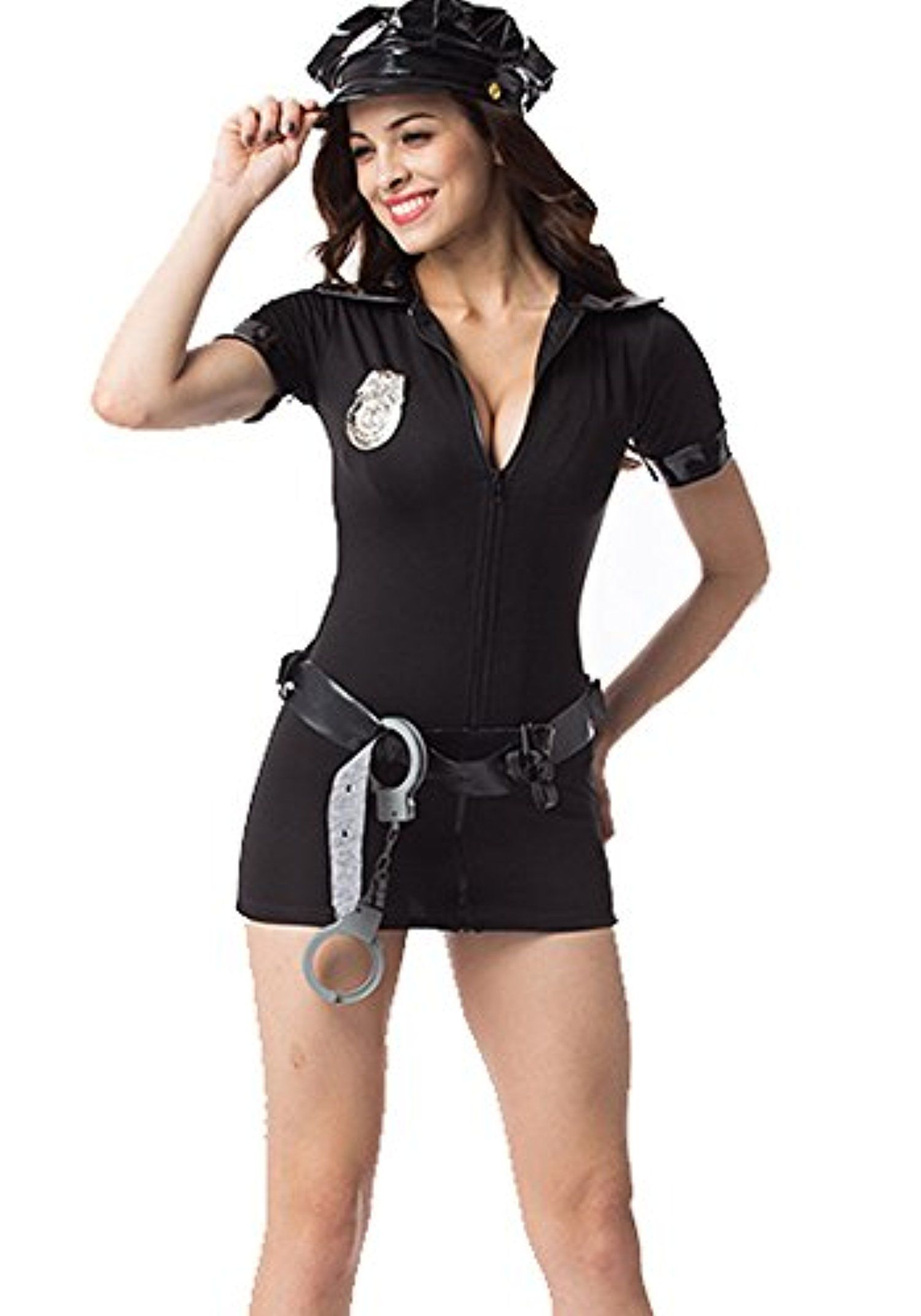 y Miss Demeanor Police Cop Costume Adult Cosplay Halloween