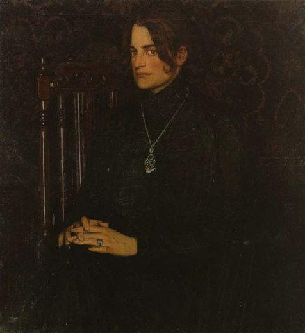 Oskar Zwintscher, Clara Rilke Westhoff,1902,102 × 93 cm   Privatbesitz