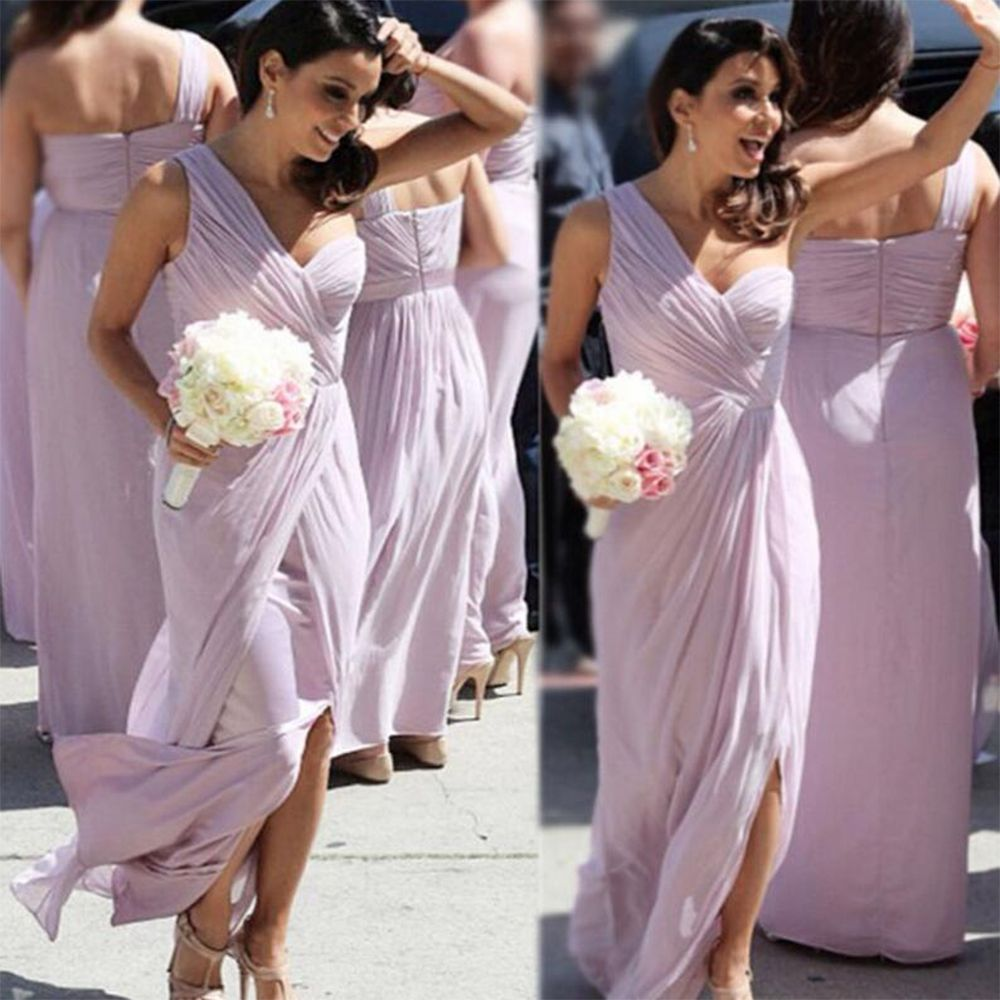 Find a cheap one shoulder light purplelilac bridesmaid dresses find a cheap one shoulder light purplelilac bridesmaid dresses long pleat tulle bridesmaid dress ombrellifo Image collections