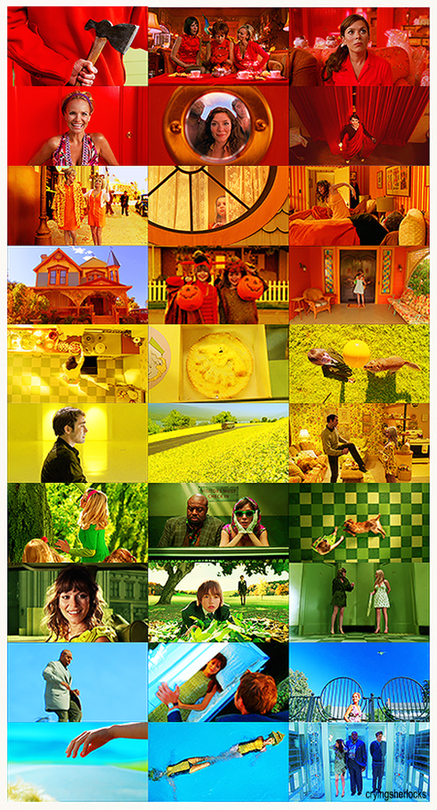 ...the beautiful art direction made everything so bright and wonderful.