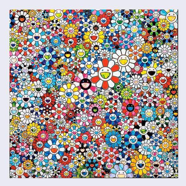 Takashi Murakami Flowers with Smiley Faces Takashi
