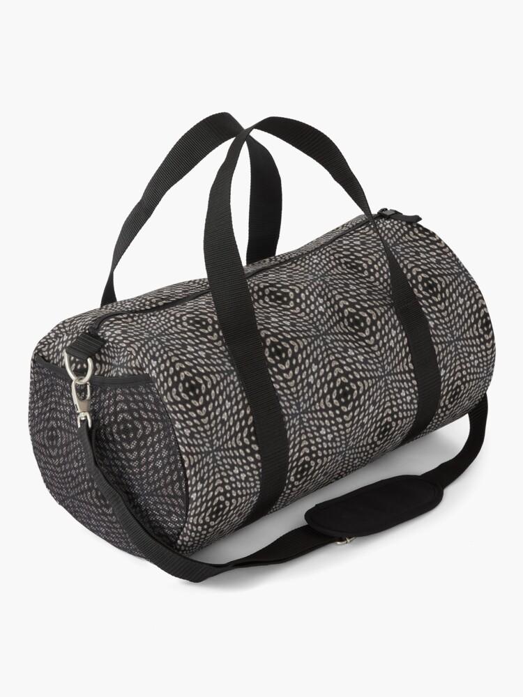 Black Pattern Vii Duffle Bag By Blertadk In 2020 Bags Duffle Bag Duffle