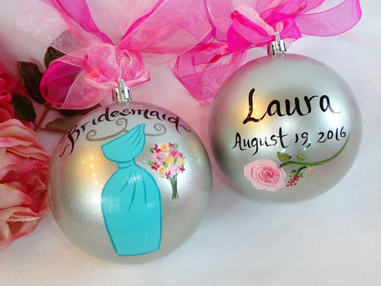 Bridesmaid Ornaments - Hand Painted Ornaments, Bridal Ornaments ...