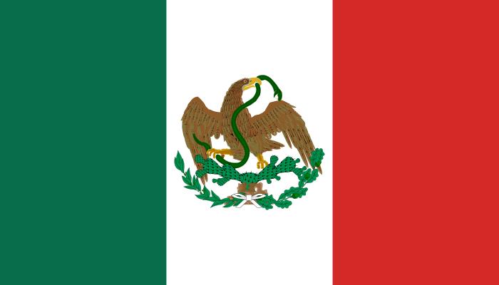 Flag Of Mexico New Mexico Flag Mexico Mexico Flag