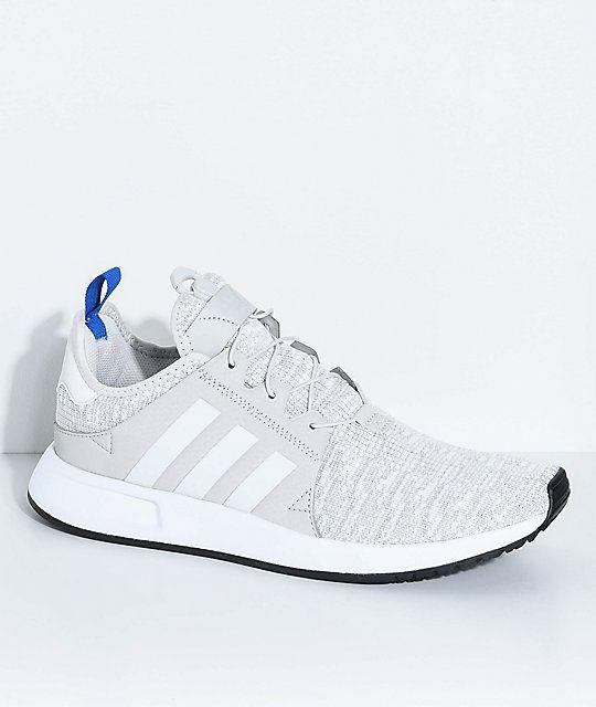 adidas Xplorer Core Light Grey, Blue and White Shoes   Tenis