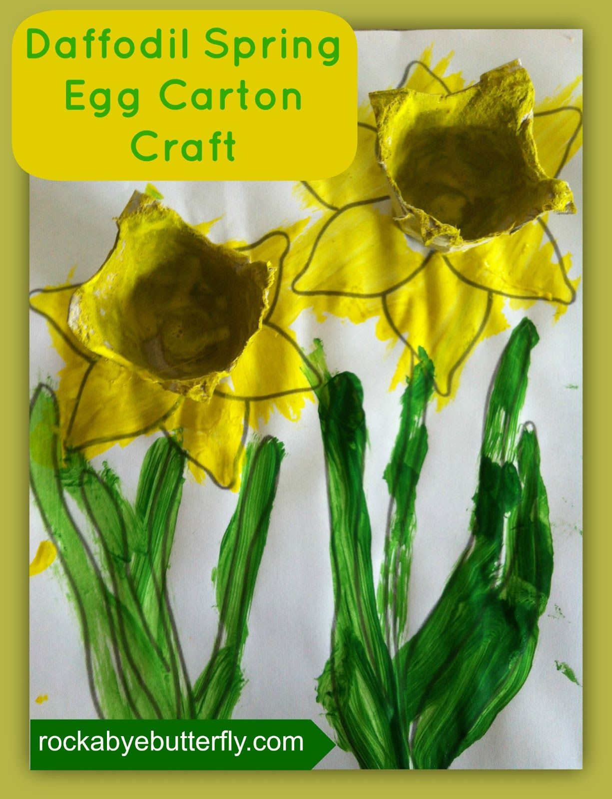 Rockabye Butterfly Spring Daffodil Craft Kinderkunst