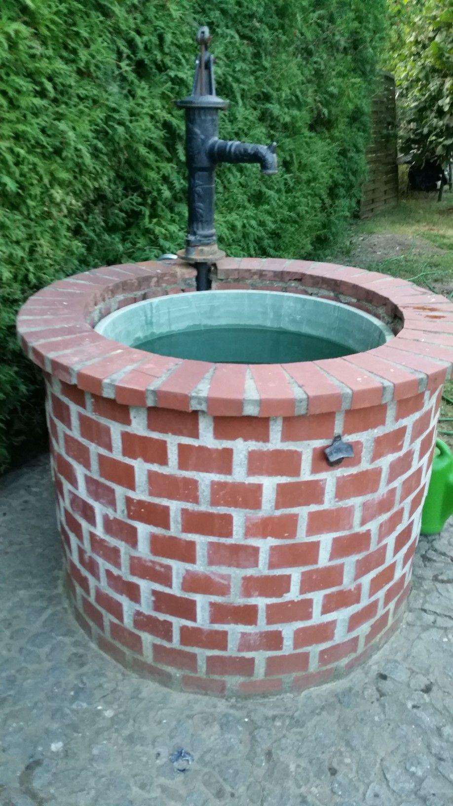 Brunnen Klinker Stein Brunnen Garten Garten Ideen