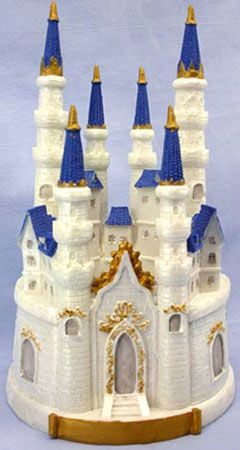 Enchanting Castle Cake Topper or Centerpiece measures 9 12 tall