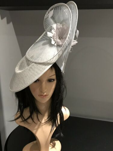 14813521fb099 SILVER GREY WEDDING ASCOT HATINATOR HAT OCCASION MOTHER OF THE BRIDE ...