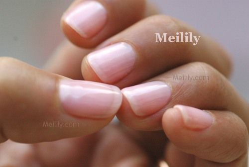 Super Natural Nails Pink Acrylic With One Coat Of Clear Shimmer Shellac I M In Love Pink Shellac Nails Trendy Nails Clear Acrylic Nails