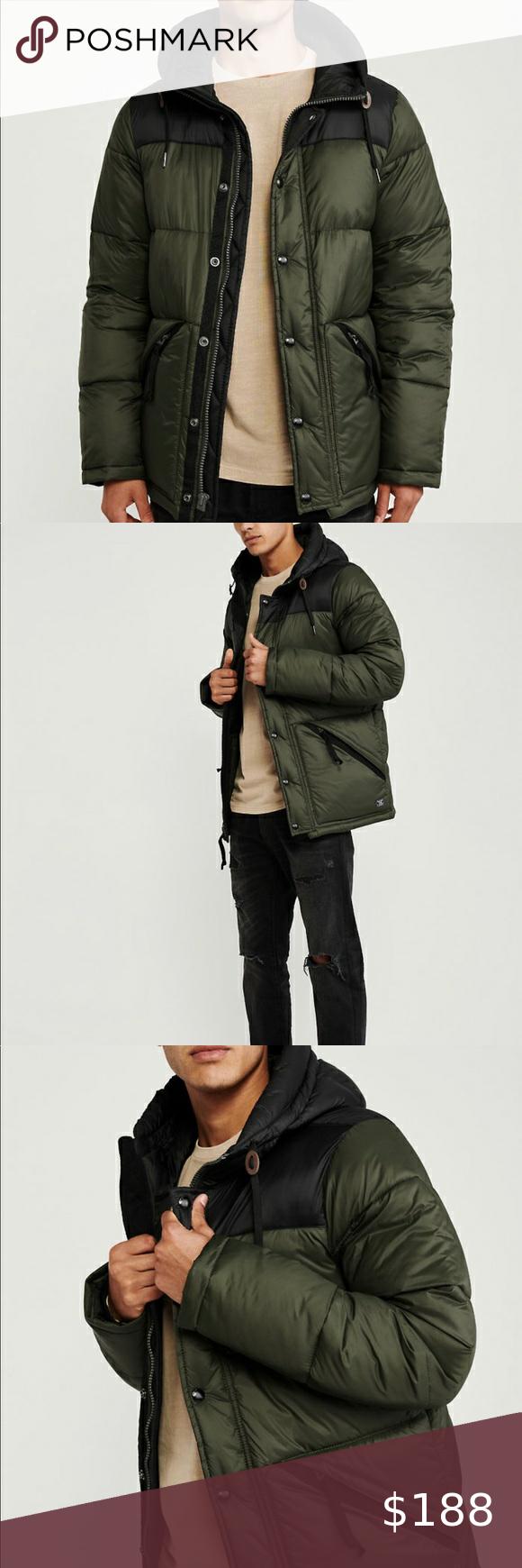 Abercrombie Ultra Puffer Black Puffer Jacket Black Zip Ups Light Winter Jackets [ 1740 x 580 Pixel ]