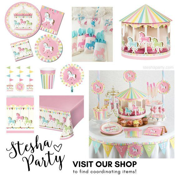 """9"""" Carousel Party Plates"""