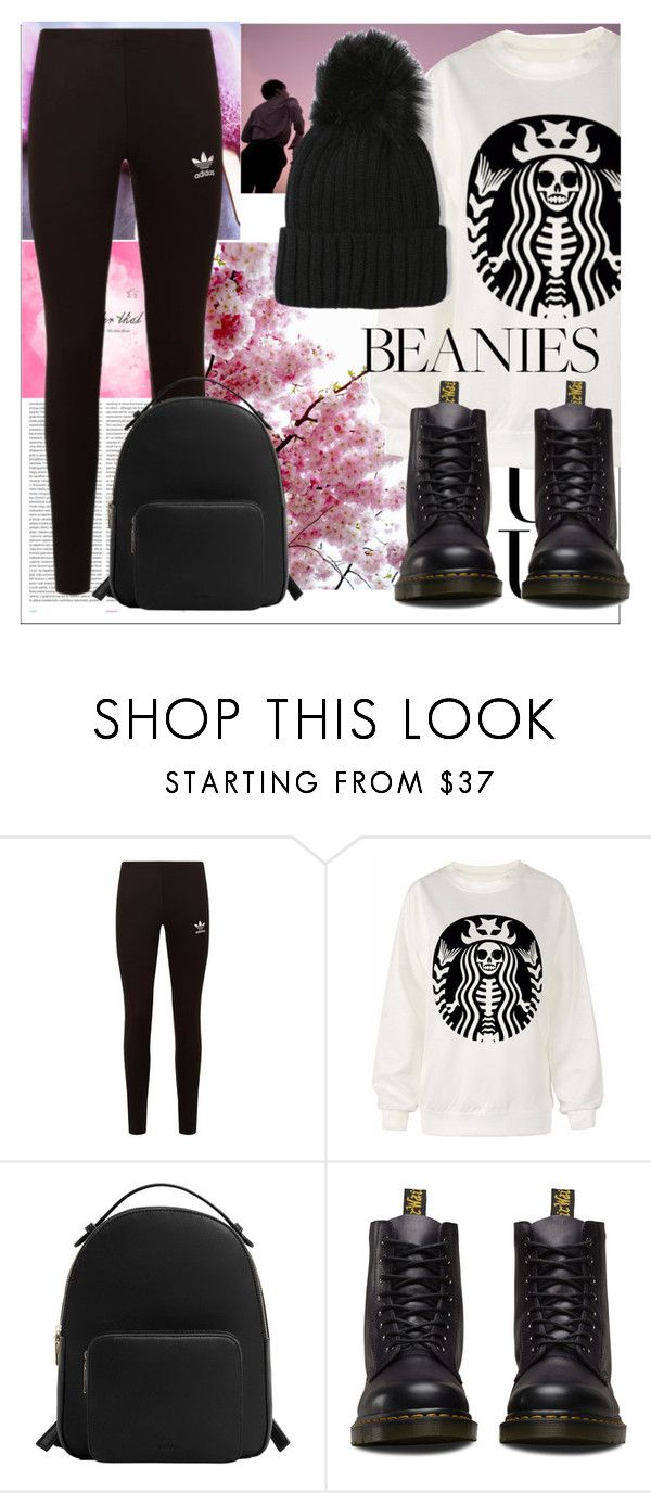 """IDK#30"" by pokeygirlllll on Polyvore featuring Oris, adidas Originals, Oui, MANGO and Dr. Martens"