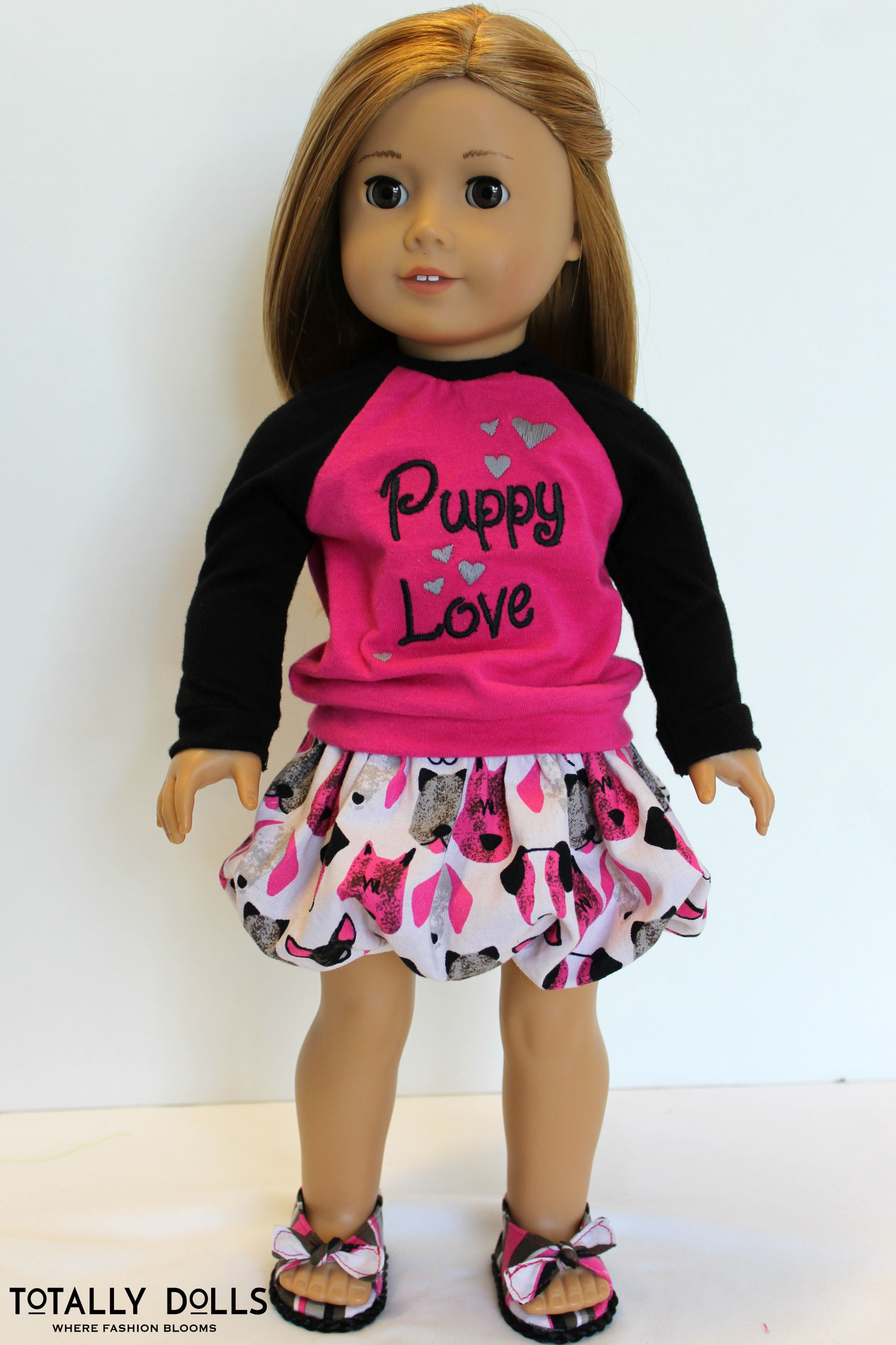 """American Girl Doll Clothes Valentine s Day """"Puppy Love"""" Bubble"""