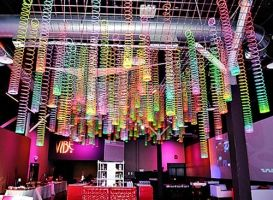 Slinkyceilingdecorations3 273 200 youth for 80s prom decoration ideas