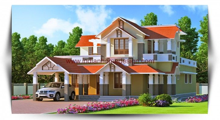 kerala traditional style meets the modern home design concept