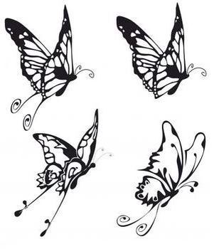 Side Profile Butterflies Top Right Is What I D Go For Butterfly Lower Back Tattoo Lower Back Tattoos Butterfly Tattoo Designs