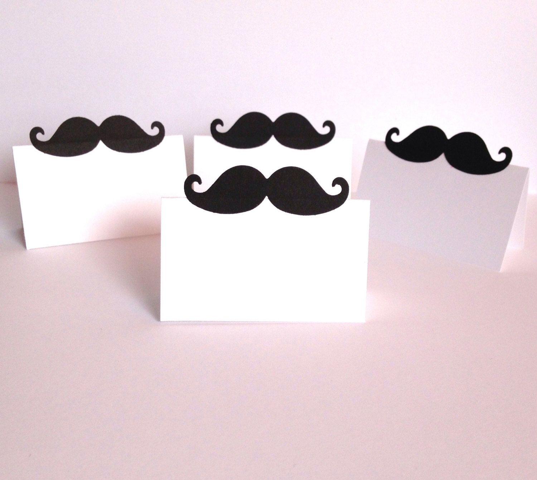 10 Mustache Place Cards Little Man Birthday Little Man Baby