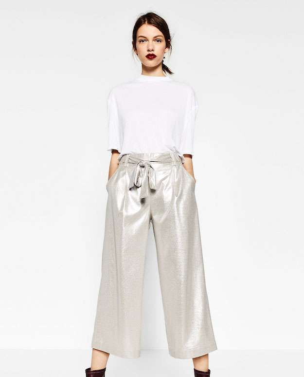 Trf Zara Coleccion Otono Invierno 2016 2017 Fotos De Los Modelos Trf Pantalones Plata Moda Ropa Pantalones De Lentejuelas
