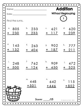 3 Digit Addition Without Regrouping Addition Worksheets Addition Words Addition Word Problems
