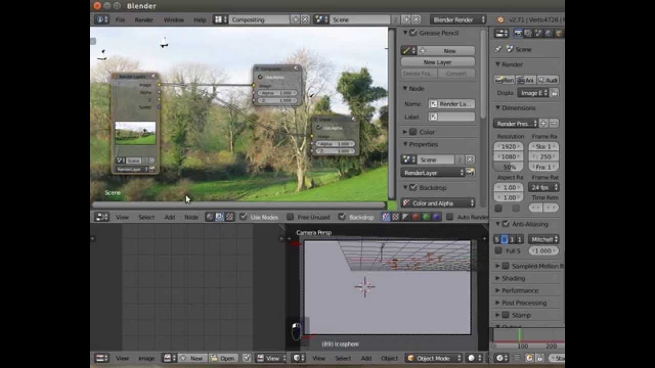 Blender 3D cg animated bird tutorial - animated particle systems