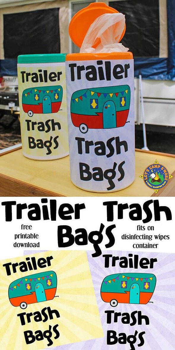 Trailer Trash Bags Free Download & Printable