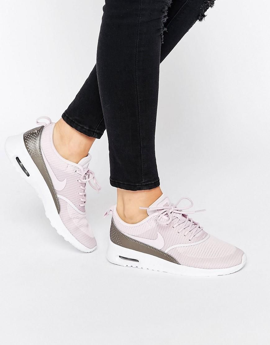cheap for discount fc383 1b528 Nike  Nike Bleached Lilac Air Max Thea Trainers at ASOS