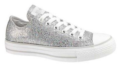 Converse CT SILVER SPARKLE OX Womens Shoes (NEW) Prom Girls Wedding CHUCK  TAYLOR  a13e356e16