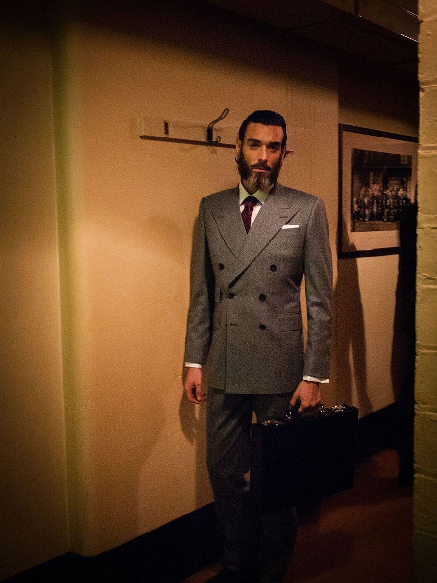 Edward Sexton grey flannel suit | Edward Sexton | Pinterest ...