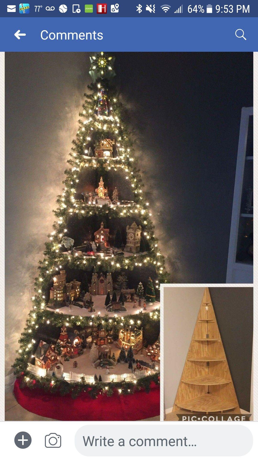 Christmas Tree Village Christmas Crafts Pinterest