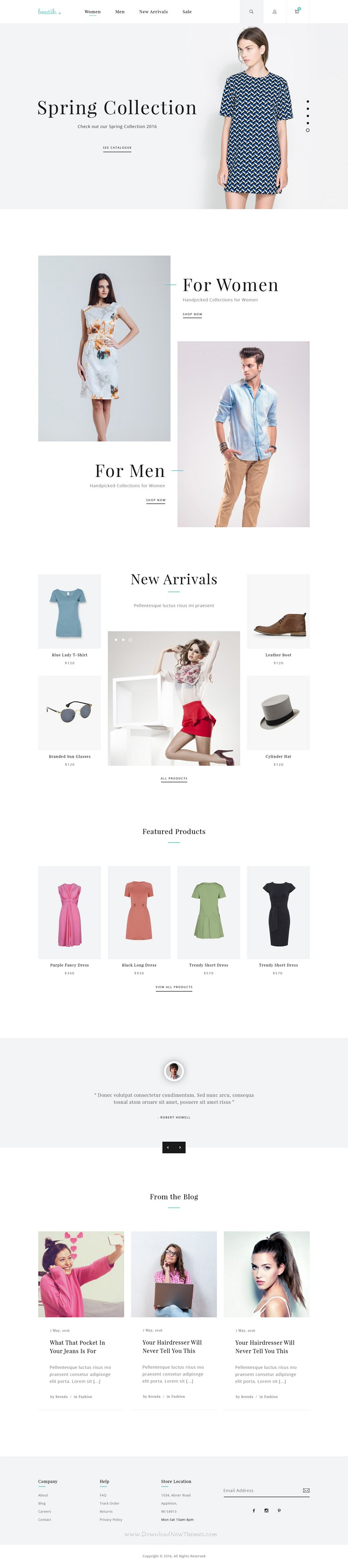 boutik fashion store psd template pinterest psd templates and