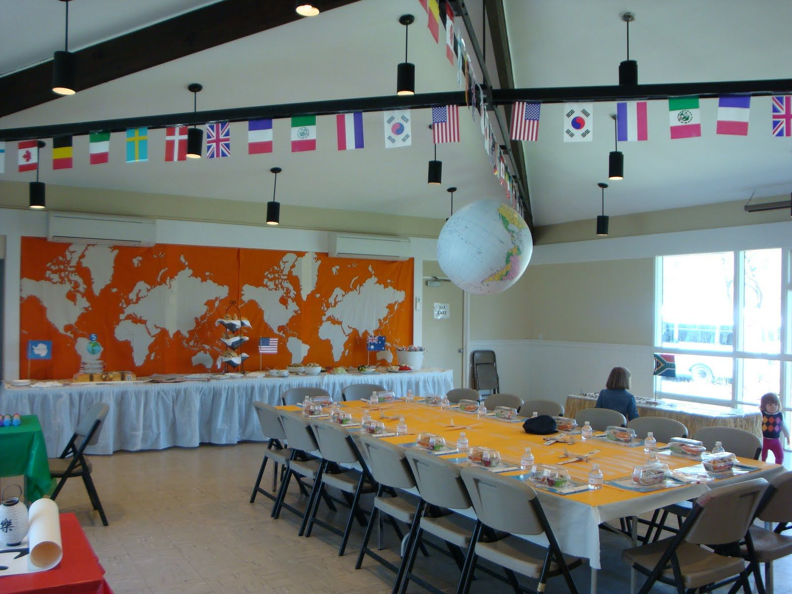 a party style around the world party so much work goes into this one but missions banquet pinterest around the worlds awesome and native country - Christmas Around The World Theme Decorations