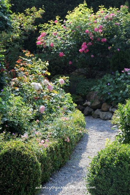 englische rosen staudenbeete cottage garden buchs formschnitt