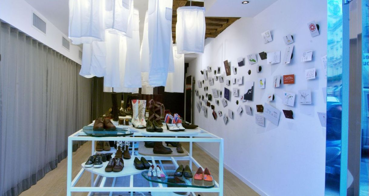 Interieur Design Mrqt Boutique Dekowand Holzstabchen Rok | Möbelideen