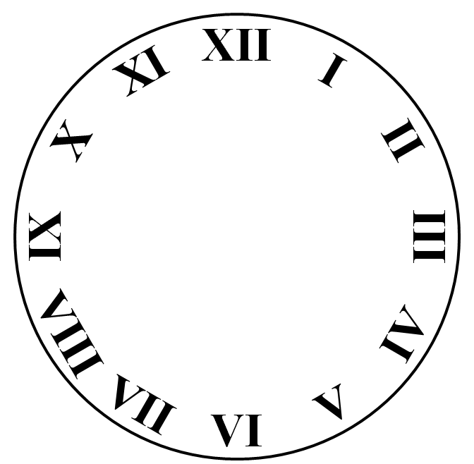 Art Clock Face Template Drawing In Powerpoint Clock