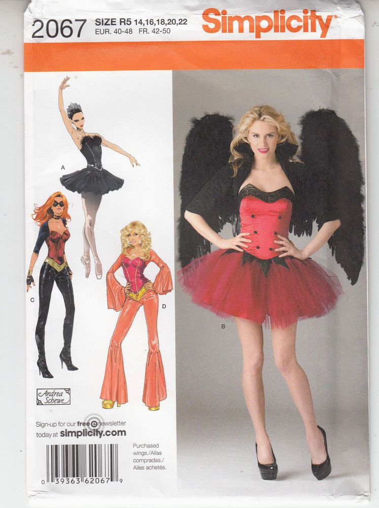naughty sexy angel cat woman black tutu costumes 14 22 simplicity pattern 2067 simplicity