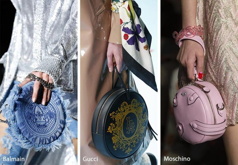 ce1559ec0090 Fall  Winter 2018-2019 Handbag Trends  Circular Bags   Purses