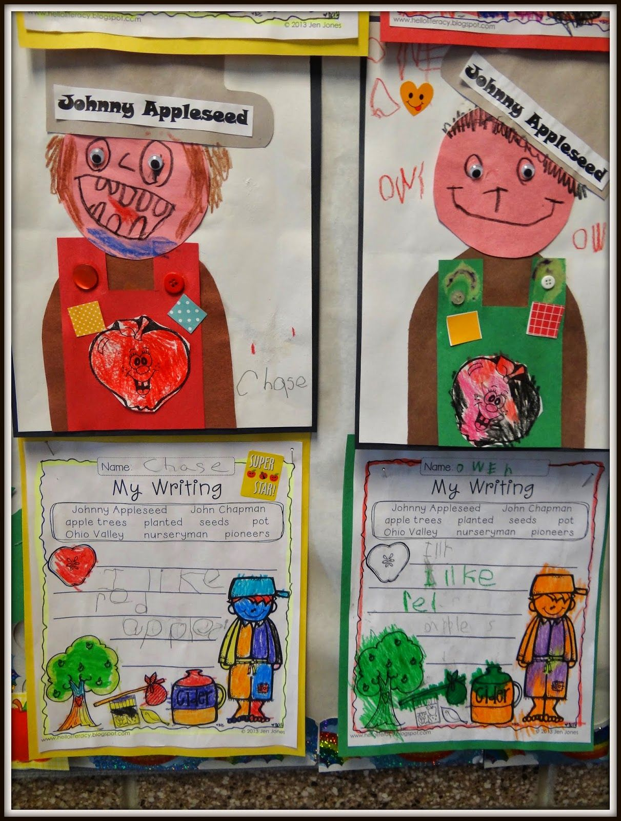 Johnny Appleseed Art Math And Writing Fun In Kinder And