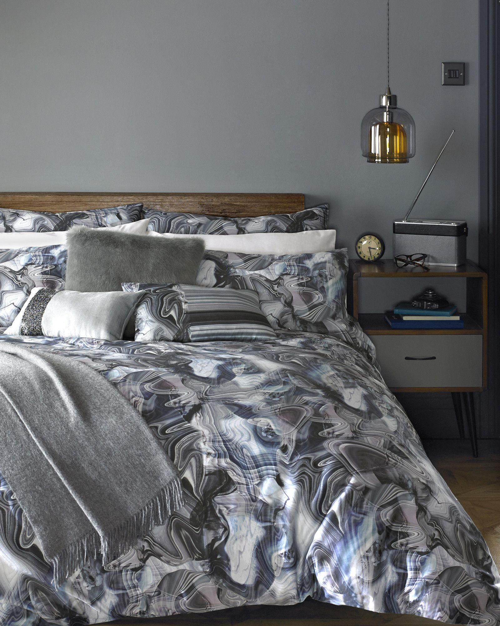 marble print double duvet cover light grey gifts for her ted