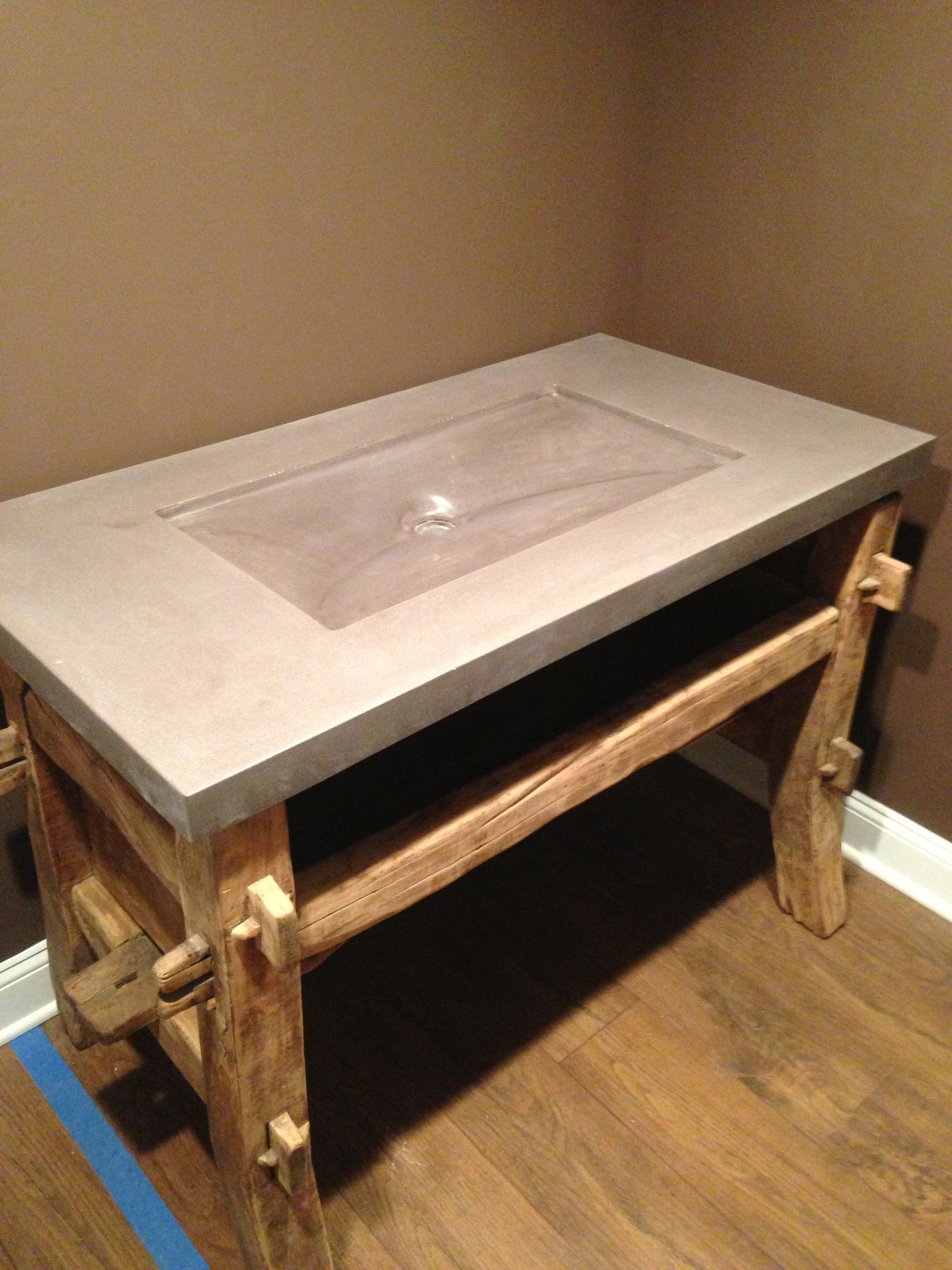 concrete sink by naan industries