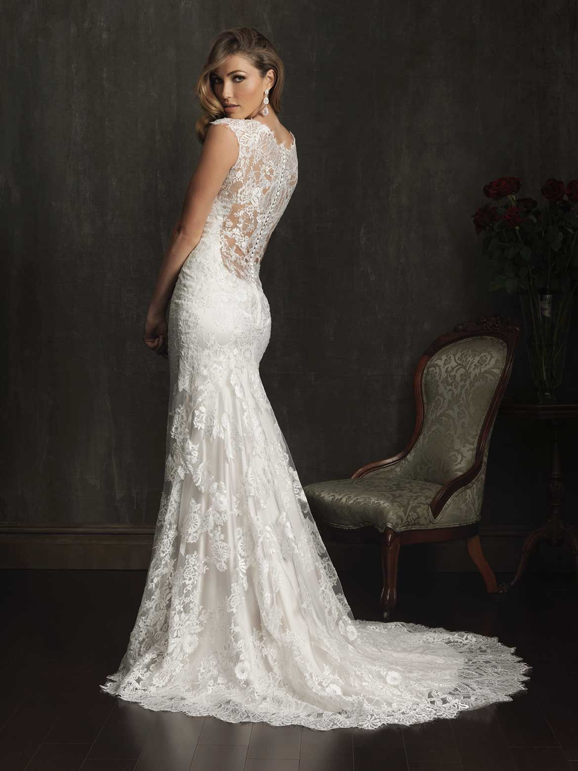 36 Low Back Wedding Dresses | Allure bridal, Wedding dress and Weddings