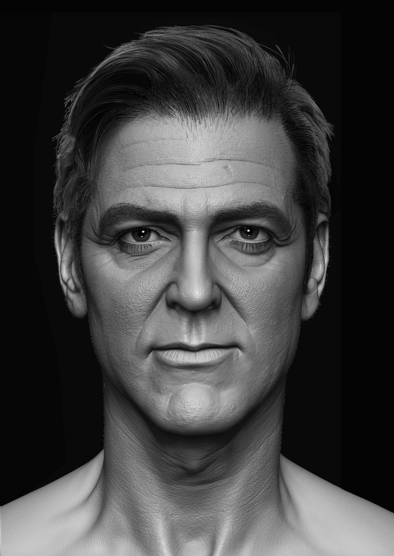 Making of George Clooney likeness in ZBrush by Hossein Diba – zbrush ...