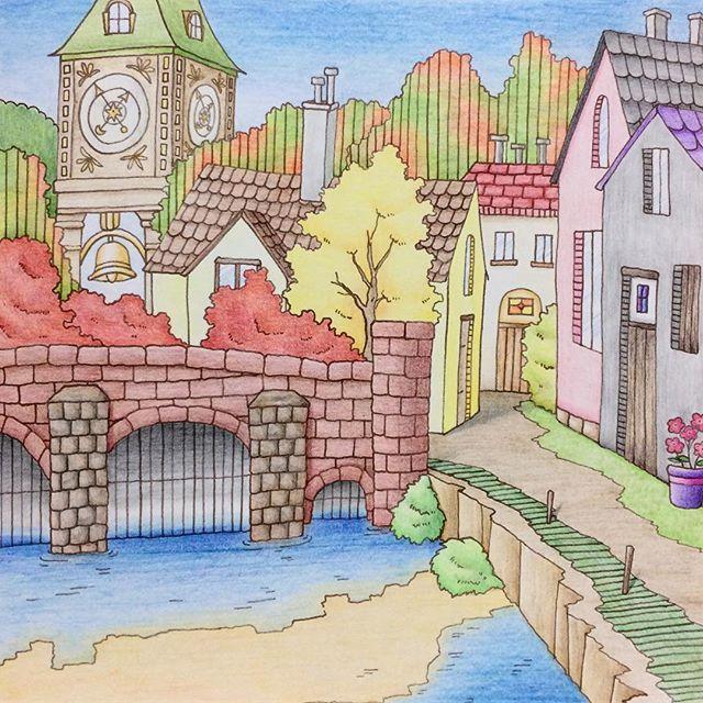 ポラリス時計塔と石造りの家 Romanticcountry ロマンティック