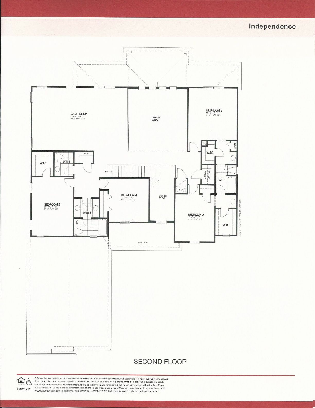 Huntington Second Floor Plan in Independence Winter Garden FL