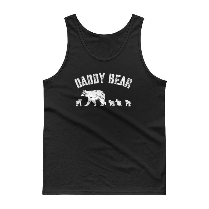 Papa Bear Muscle Shirt for Dad Fathers Day Protector of The Family Sleeveless