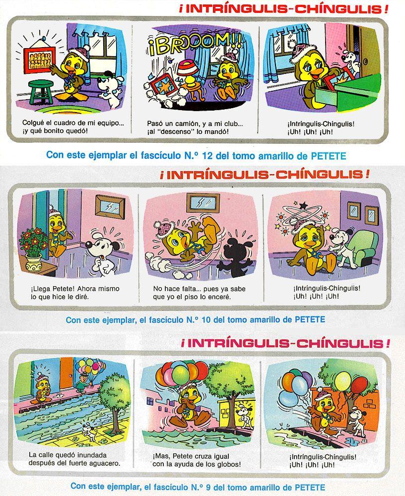 Intríngulis Chíngulis Uh Uh Uh Qué Recuerdos El Gran Libro De Petete Libros Grandes Sé Bueno Infancia