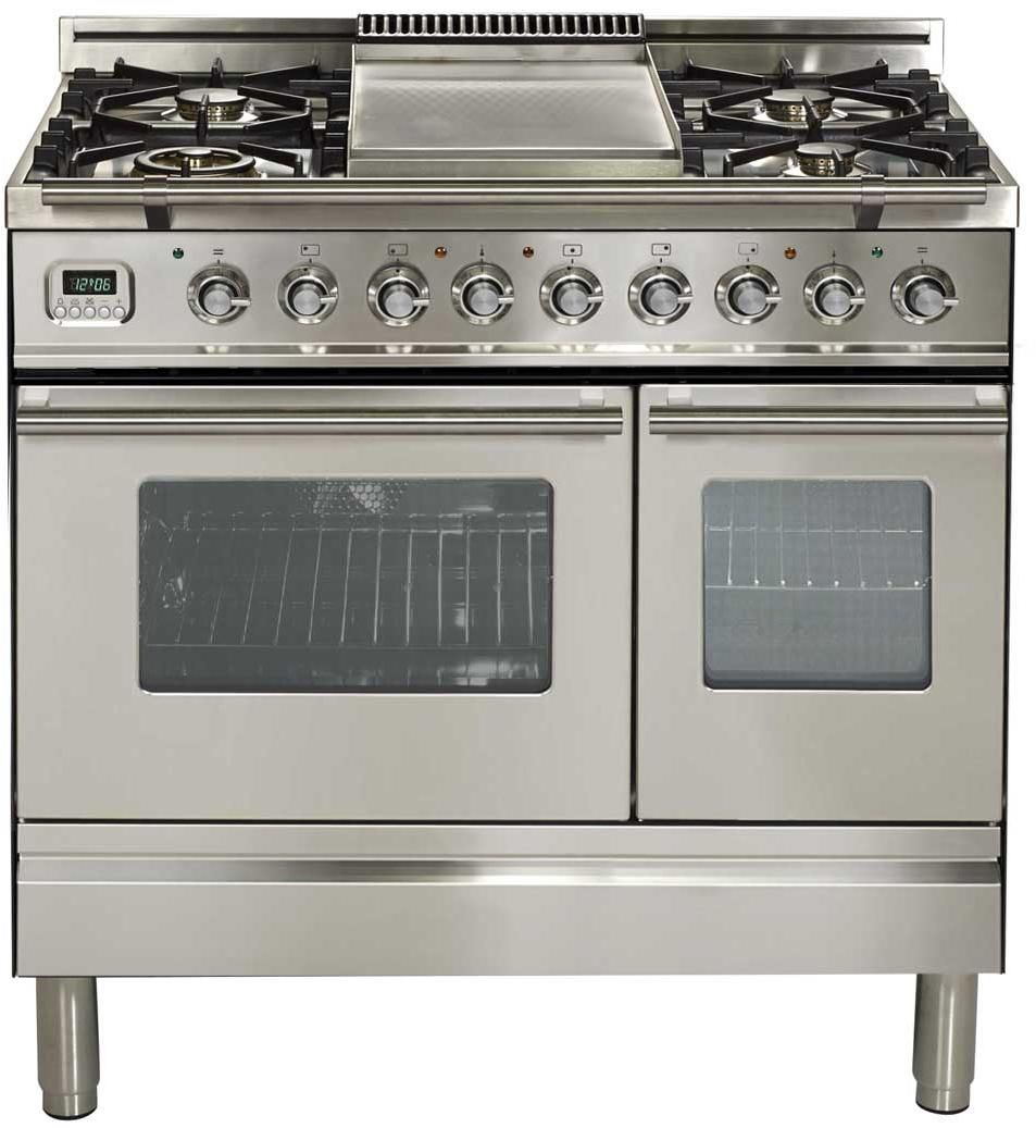 Updw90fdmpi 36 Pro Series Freestanding Dual Fuel Range With 4 Sealed Burners Double Oven Griddle In 2020 Double Oven Range Oven Range Oven