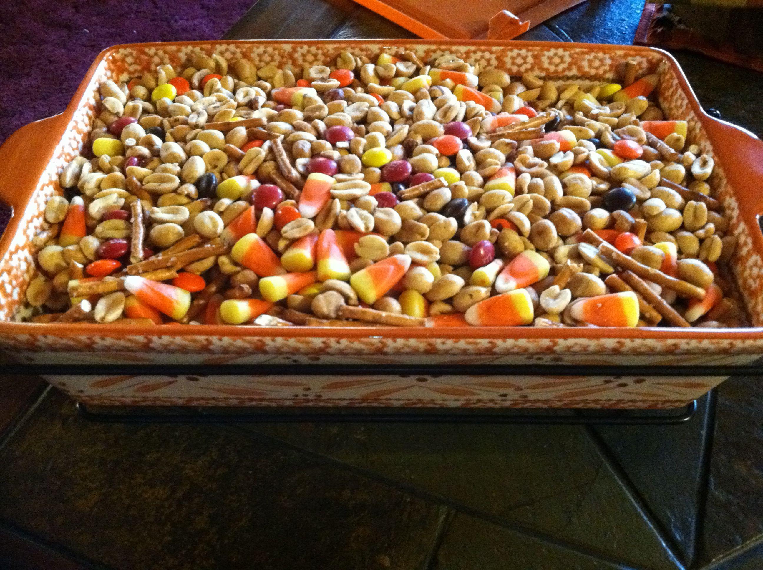 Fall Trail Mix Peanuts Ms Pretzel Sticks Candy Corn