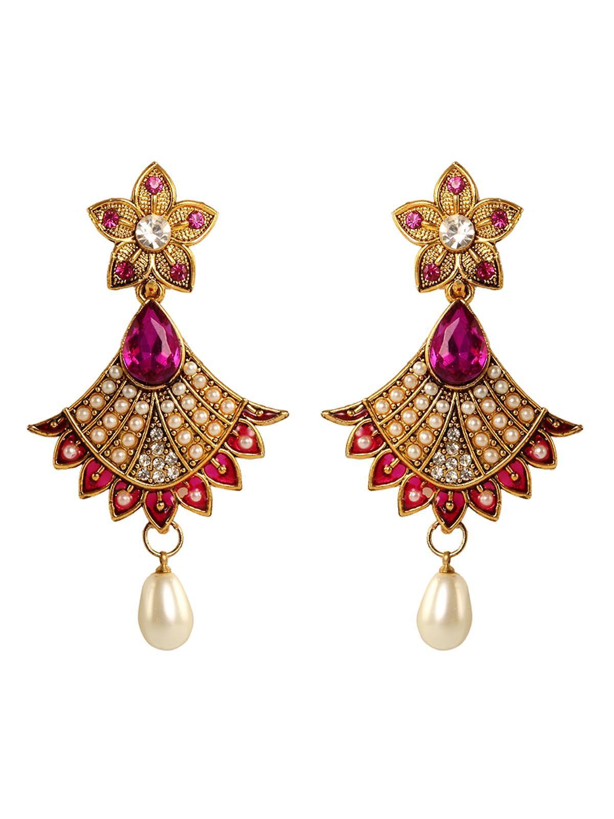 Mesmerizing modern pink stone with american diamonds eid wear